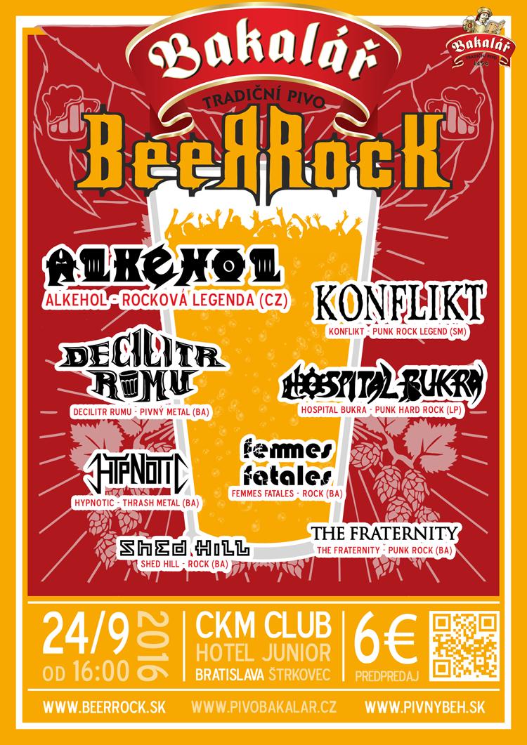 Plagát Bakalář BeerRock 2016