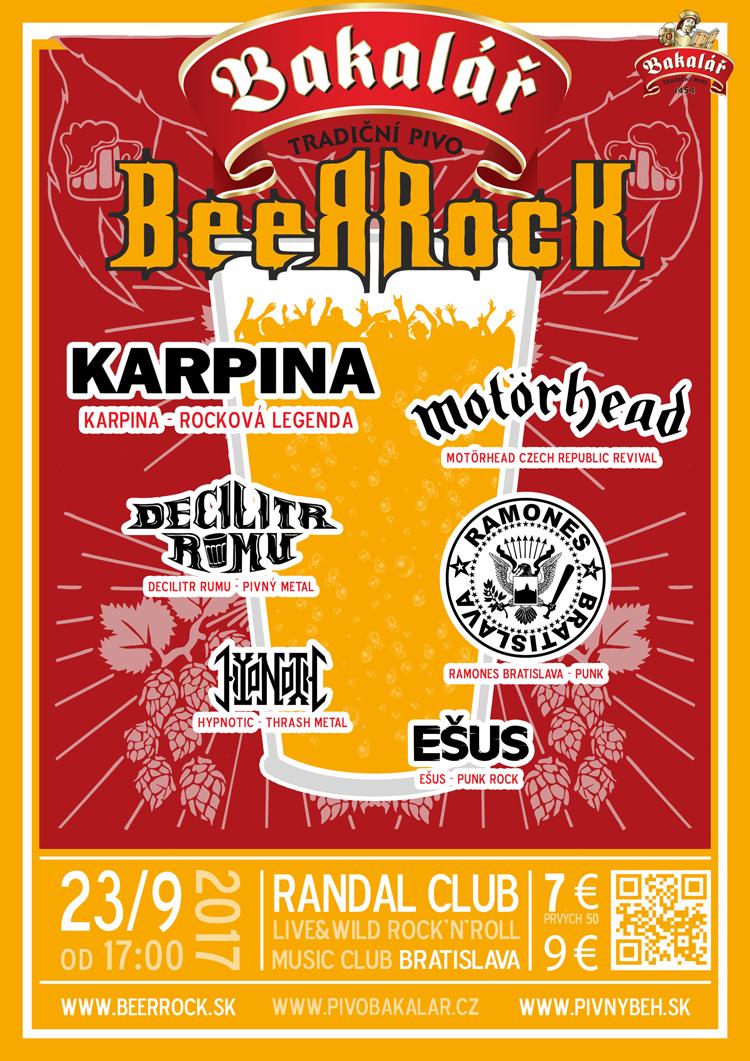 Plagát Bakalář BeerRock 2017