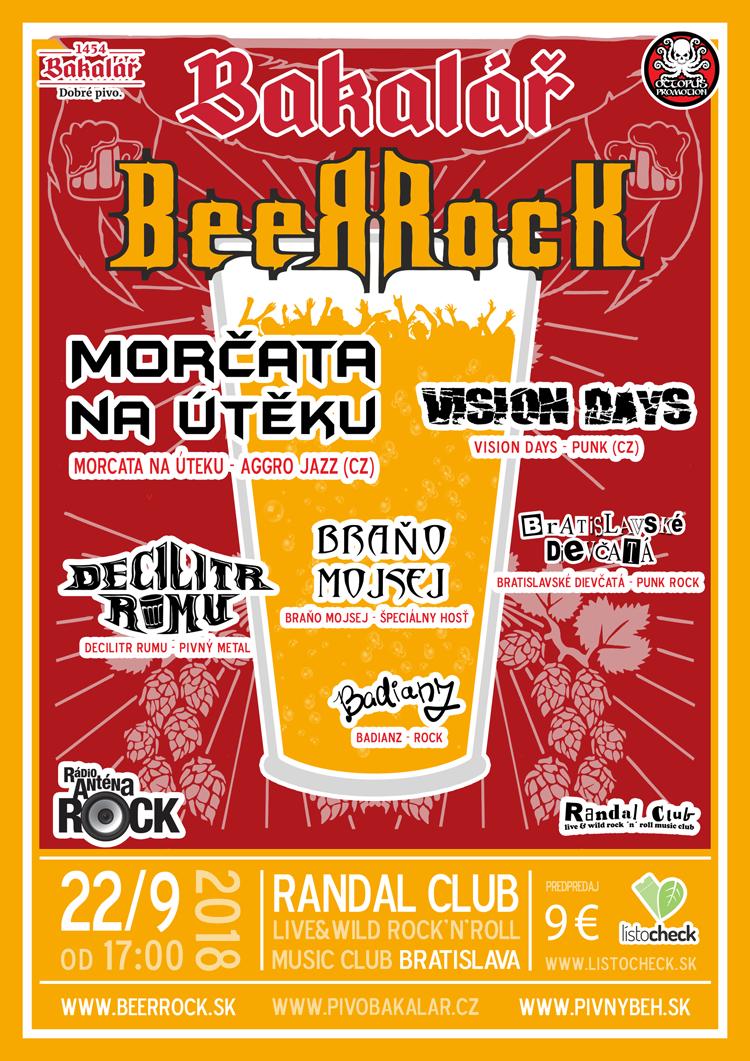 Plagát Bakalář BeerRock 2018
