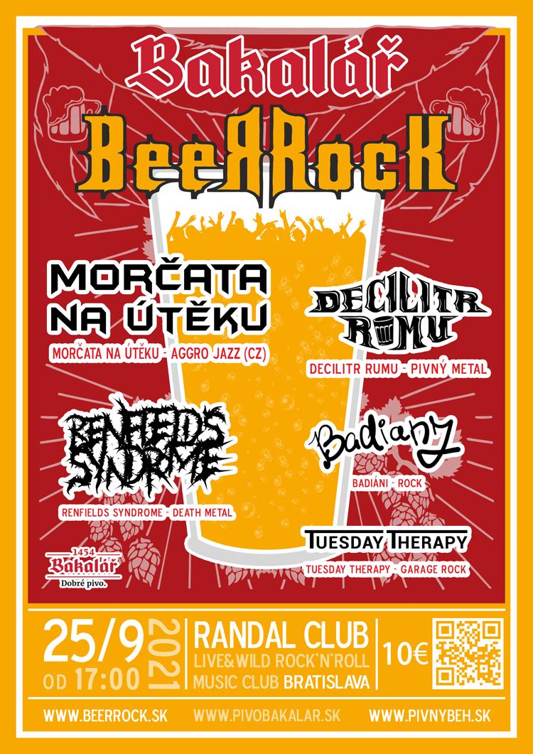 Plagát Bakalář BeerRock 2021